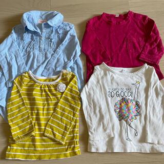 ムジルシリョウヒン(MUJI (無印良品))の女の子 トップス 4点セット(Tシャツ/カットソー)
