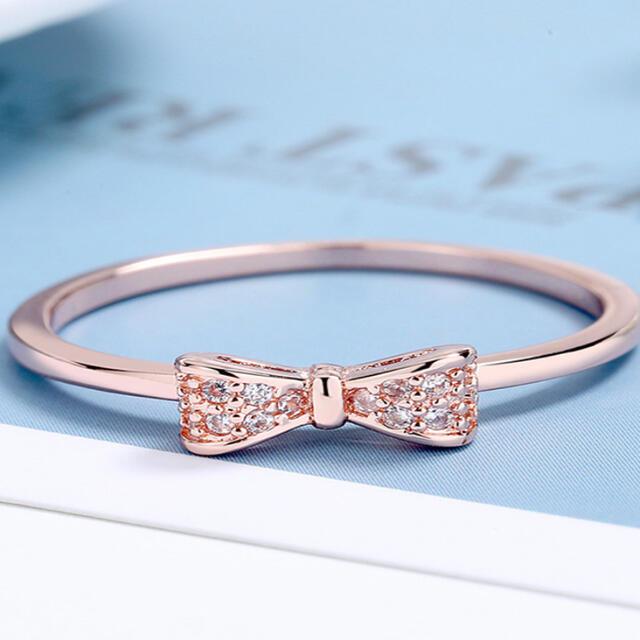 リボン 指輪 リング リボンリング レディースのアクセサリー(リング(指輪))の商品写真