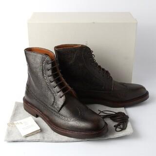 ブルネロクチネリ(BRUNELLO CUCINELLI)の新品 ブルネロ クチネリ ショート ブーツ 44 レザー 28cm 28.5cm(ブーツ)
