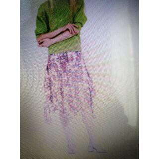 ヴィヴィアンタム(VIVIENNE TAM)の☆ヴィヴィアンタム☆2021ピオニー柄イレギュラースカート(ひざ丈スカート)