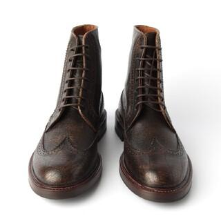 ブルネロクチネリ(BRUNELLO CUCINELLI)の新品 ブルネロ クチネリ イタリア製 メンズ レザー ブーツ 42 27cm 茶(ブーツ)