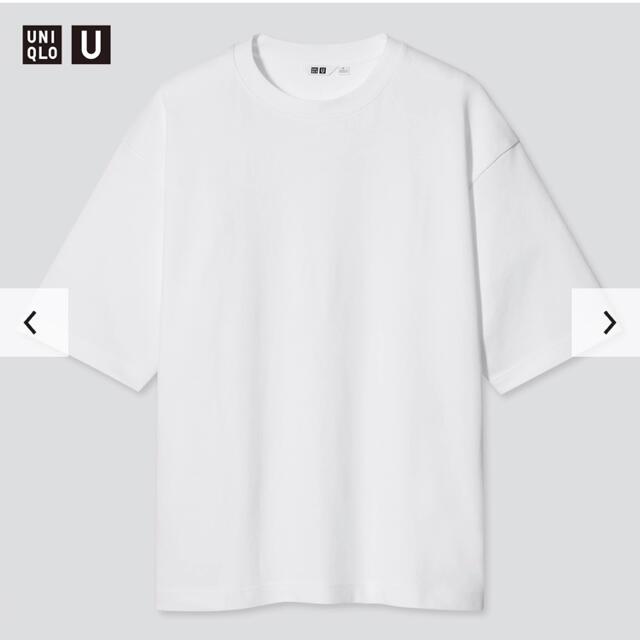 UNIQLO(ユニクロ)のエアリズムコットンオーバーサイズTシャツ(5分袖) ホワイト ブラック セット メンズのトップス(Tシャツ/カットソー(半袖/袖なし))の商品写真