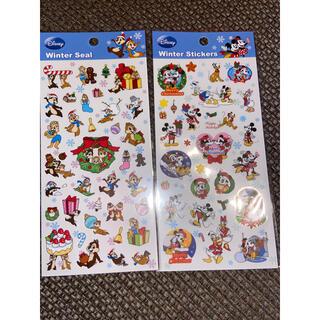 Disney - ディズニー 冬柄 クリスマス シール 2枚セット
