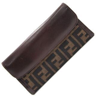 フェンディ(FENDI)の フェンディ Wホック長財布 ズッカ 01339 カーキ(財布)