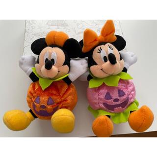 Disney - ハロウィン限定 ミッキー ミニー ぬいぐるみバッチ かぼちゃ 2014