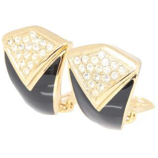 クリスチャンディオール(Christian Dior)の ディオール イヤリング ゴールドカラー ブラック メタル(リング(指輪))