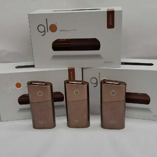 グロー(glo)の人気色ブラウン 新品未使用 3台セットglo グロー シリーズ2 mini(タバコグッズ)