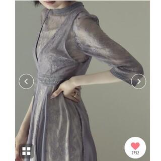 Ameri VINTAGE - etoll.  エトル レイヤードラッセルレース ドレス ワンピース