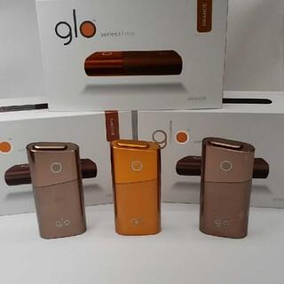 グロー(glo)の新品未使用 2色3台セットglo グロー シリーズ2 mini 本体フルセット(タバコグッズ)