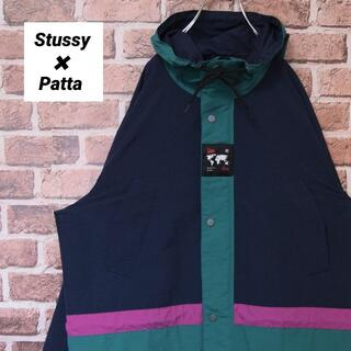 STUSSY - 《ステューシー×パタ》限定コラボ Lサイズ ロングパーカー 美品