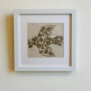 ミナペルホネン ハンドメイド オデッセイ 鳥 花 ファブリックフレーム 刺繍