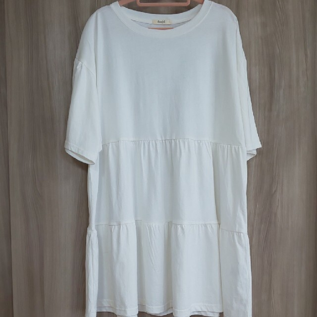 しまむら(シマムラ)のプチプラのあや ティアードプルオーバー Tシャツ MUMU 近藤千尋 グレイル レディースのトップス(Tシャツ(半袖/袖なし))の商品写真