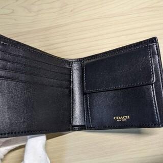 COACH - 【新品未使用】コーチ F74929 BK メンズ 折り財布 レア