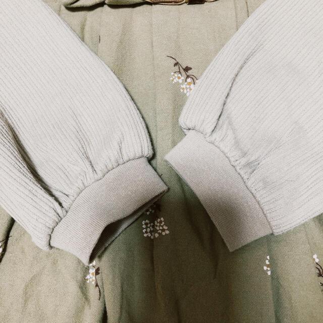 petit main(プティマイン)のプティマイン プリーツテレコTシャツ 110cm キッズ/ベビー/マタニティのキッズ服女の子用(90cm~)(Tシャツ/カットソー)の商品写真