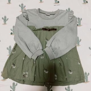 petit main - プティマイン プリーツテレコTシャツ 110cm
