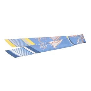 エルメス(Hermes)のエルメス  ツイリー  スカーフ 水色/黄色/オレンジ(バンダナ/スカーフ)