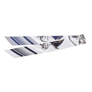 エルメス(Hermes)のエルメス  ツイリー  スカーフ 紺/白(バンダナ/スカーフ)