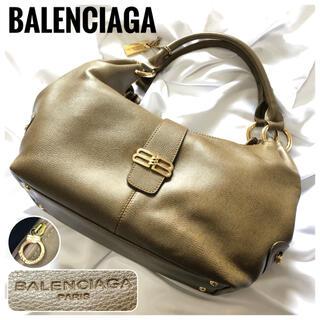 バレンシアガ(Balenciaga)の極美品⭐️バレンシアガ ゴールド金具 BBロゴ ロゴ型押し レザー ハンドバッグ(ハンドバッグ)