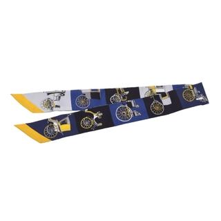 エルメス(Hermes)のエルメス  ツイリー スカーフ ネイビー/黒/グレー(バンダナ/スカーフ)