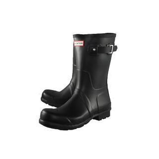 ハンター(HUNTER)のHUNTER メンズラバーエンジニアブーツ ブラック UK9(28cm)(長靴/レインシューズ)