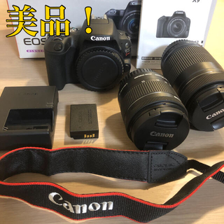 Canon - 美品 Canon EOS KISS X9 Wズームキット BK