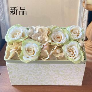 造花 アーティフィシャルフラワーBOXフラワーアレンジメント(その他)