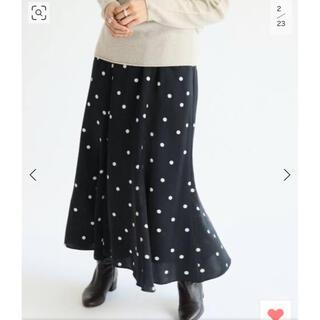 IENA - 美品 イエナ ドットプリントランダムフレアスカート 34サイズ