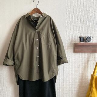 MUJI (無印良品) - 無印良品MUJI★オーバーサイズコットンシャツ M-Lサイズ