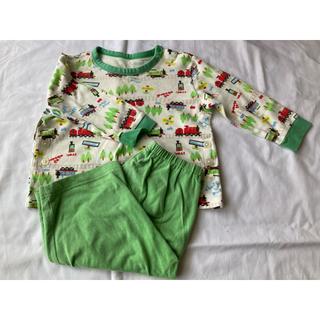 ユニクロ(UNIQLO)のUNIQLO トーマス 長袖パジャマ 80サイズ 緑(パジャマ)