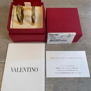 ヴァレンティノ(VALENTINO)のヴァレンティノ ピアス ゴールド 極美品(ピアス)