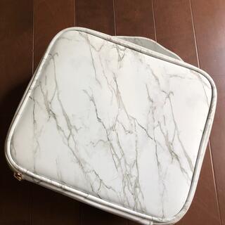 大理石柄  化粧ポーチ メイクボックス ハードケース ゴールド金具(メイクボックス)