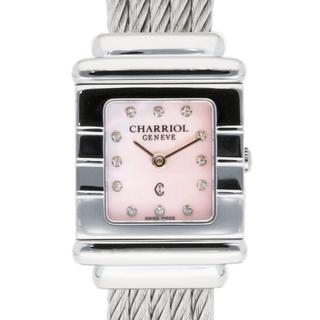 シャリオール(CHARRIOL)の【中古】シャリオール CHARRIOL 腕時計 バングル ダイヤ12P(腕時計)