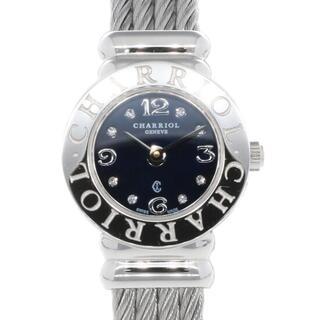 シャリオール(CHARRIOL)の【中古】シャリオール CHARRIOL 腕時計 ダイヤ8P サントロペ(腕時計)