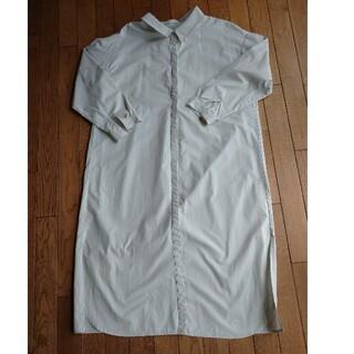 ケービーエフ(KBF)のKBF ロングシャツ シャツ ワンピース ホワイト アイボリー グレージュ(シャツ/ブラウス(長袖/七分))
