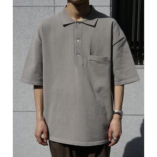 サンシー(SUNSEA)のstein/HIGHLY DENSED KNIT POLO SHIRT (ポロシャツ)