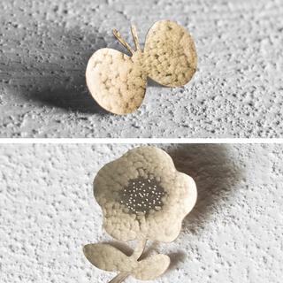 ミナペルホネン(mina perhonen)の[新作]ゆらはな 真鍮 ブローチ ハンドメイド ミナペルホネン アクセサリー(コサージュ/ブローチ)