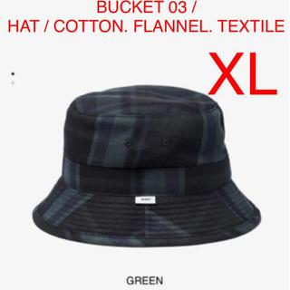 ダブルタップス(W)taps)のBUCKET 03 / HAT / COTTON. FLANNEL. XL(ハット)