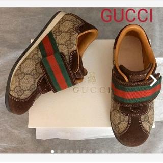 Gucci - GUCCI チルドレン☆キッズスニーカーGGスプリーム スエード シェリーライン