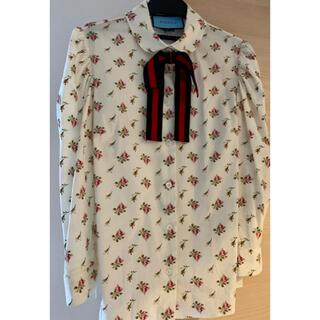 Gucci - 正規品GUCCIリボン付きシャツ/ブラウス