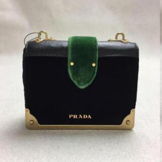 PRADA - PRADA ベルベット レザー ショルダーバッグ