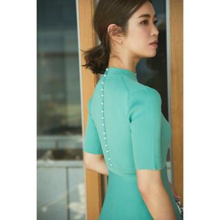 Drawer - 新品 seventen セブンテン バッグパールニットドレス ワンピース S