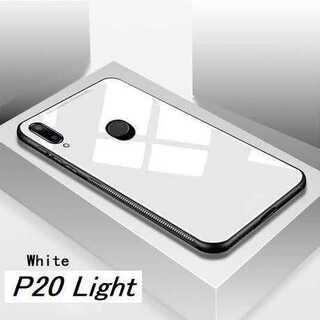 白★HUAWEI P30Lite  鏡面 ミラーオシャレ ガラス カバー★