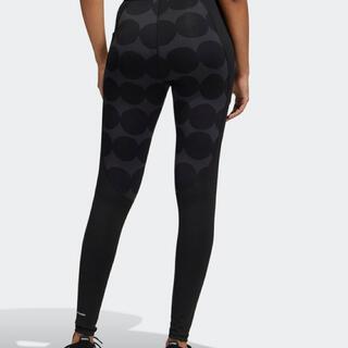 adidas - adidas マリメッコ テックフィット ロングタイツ Mサイズ ブラック