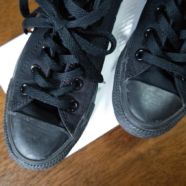 CONVERSE(コンバース)のコンバース ハイカット・オールスター・スニーカー 23cm真っ黒 レディースの靴/シューズ(スニーカー)の商品写真