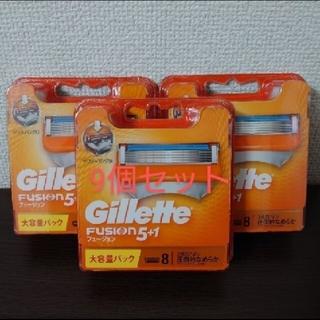 ジレ(gilet)の【未開封 9個セット】ジレット フュージョン5+1 替刃(8コ入)(カミソリ)