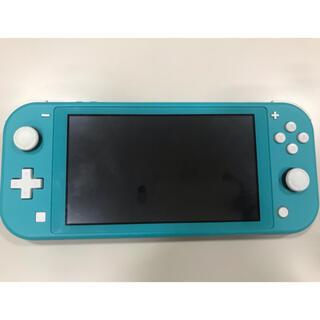 任天堂 - ニンテンドースイッチ ライト グリーン系 BLUE青 ジャンク品 水没