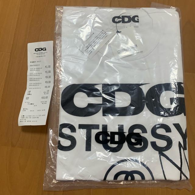 COMME des GARCONS(コムデギャルソン)のLサイズ CDG x STUSSY T-SHIRT ステューシー Tシャツ 白 メンズのトップス(Tシャツ/カットソー(半袖/袖なし))の商品写真