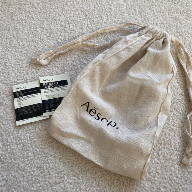 Aesop(イソップ)のイソップ  巾着とサンプル レディースのバッグ(ショップ袋)の商品写真
