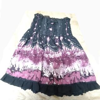アクシーズファム(axes femme)のaxes femme スィートハロウィン ハイウエスト編み上げスカート(ひざ丈スカート)
