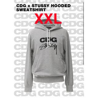 STUSSY - CDG STUSSY コラボ フーディー パーカー XXL supreme